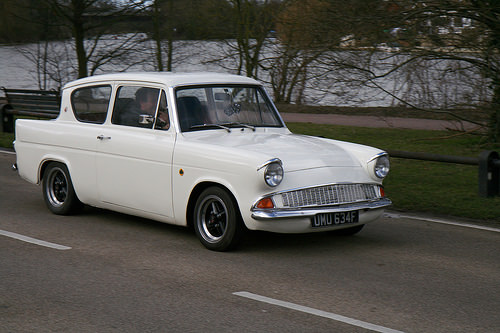 Ford Anglia Modded road car Photo credit davocano via Visual Hunt CC BY