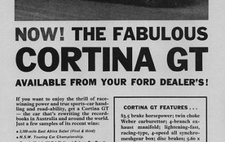 Ford Cortina GT - Typical Ad Photo credit sv1ambo via Visualhunt.com CC BY