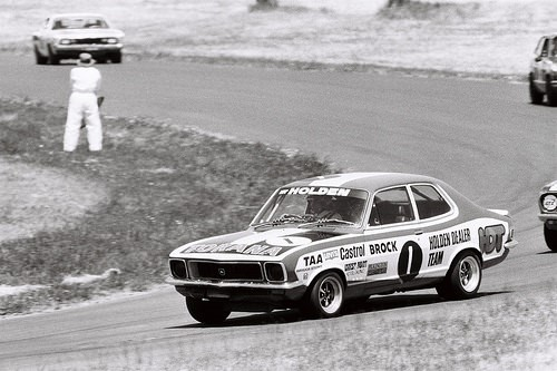 Peter Brock in the 202 Six Cylinder GTR Torana XU 1. Running the same chassis as the Can Am Firenza V8